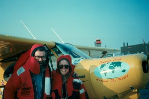 In 1990, Bob and Diane Dempster flew their Piper Super Cub from England to Egypt, as part of a short-lived attempt to fly to Australia.