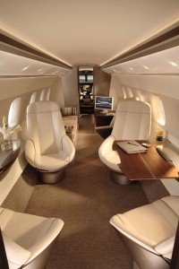 At EBACE, onlookers couldn't help but notice Embraer's Legacy 500 cabin mock-up. The 500 is designed for a service range of 3,000 nautical miles, seating four passengers, or a 2,800-nautical-mile range seating eight people.