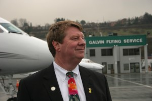 Peter Anderson, president of Galvin Flying Services, sees expanded facilities, programs and growth with new owner Quantem FBO Services.