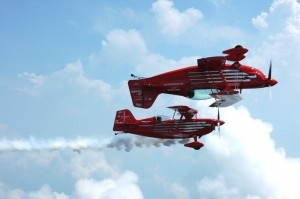 "The popular Red Eagles biplane aerobatics show, ""Magic in the Air,"" returns for a second year at the Arlington Fly-In."