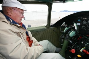 Col. Bill Bower felt right at home in the command seat of the B-25 Pacific Prowler.