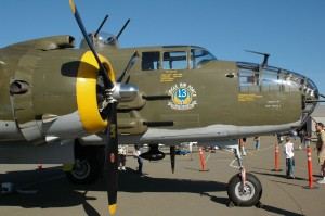 "A veteran of the silver screen, this B-25J Heavenly Body appeared in the movie, ""Catch-22."""