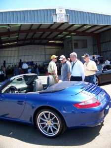 The tradition of open-air Porsche sports cars reaches back to the company's first one built in 1948, to this beautiful cobalt blue 2008 Porsche 911 Carrera S Cabriolet, which attracted considerable attention.