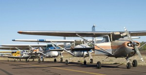 Airplanes stand ready for their passengers at the Payson Aero Fair.