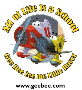 """All of Life is a School"" is the first part of Kermit Weeks' long-term goal to help to shift global consciousness. Gee Bee Zee introduces the first round of airplane characters he's developed."