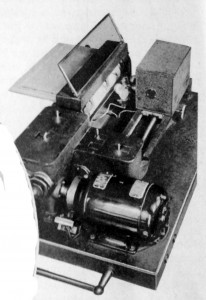 A facsimile scanner used in the existing system of international short wave operations.