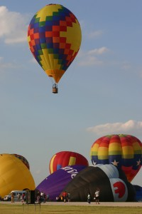 More than 60 hot air balloons filled the clear Texas skies late in June, for the first DFW Summer Balloon Classic.