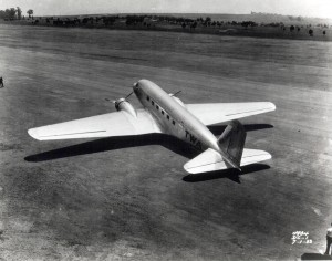 Another view of the airport in 1933 shows no development. The Douglas DC-1 is about to take off.