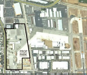 The Prop Park will be located in the northwest corner of the airport, where the Air National Guard base was located at the west end of Taxiway A2.