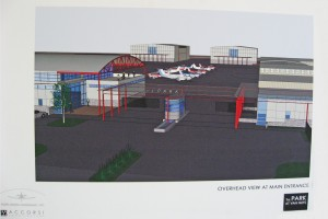 A Prop Park artist concept shows the view from the main entrance on Balboa Blvd.