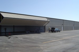 The logistics of moving aircraft around Wings Valet are simple with bi-fold hangar doors and optional Aero-Lifts available to maximize hangar space.