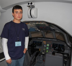After spending several minutes in the simulator, Alexandre Almeida said he knew what he wanted to be when he grew up—a pilot.