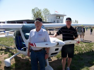 David Plucker (left), vice president, director flight training and maintenance, and Wes Becker, president, director sales and marketing, represented Rocky Mountain Sport Aviation by exhibiting the new Remos light sport aircraft.