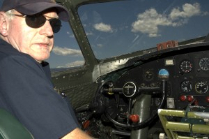 Capt. Bob Blue, retired after 39 years with United Airlines, has flown the restored B-17 for seven years.