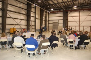 About 80 members of the aviation industry attended the Aviation Professionals Sharing Information meeting in Teterboro. They were brought up to date on new general aviation safety and security issues coming in the months ahead.