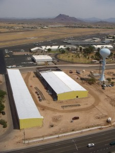 Desert Jet Center at Falcon Field Airport in Mesa, Ariz. will offer high-end, fully finished hangar facilities for owners of very light jets and other high-tech aircraft.