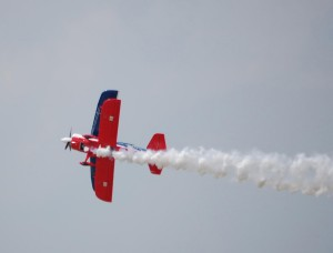 "Ed Hamill has been entertaining air show crowds since 1999. His unique air show tells a story he calls ""Living the Dream."" This year marks the sixth consecutive year Hamill and his team operated as the Air Force Reserve Biplane Show."