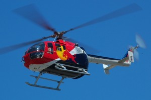 This modified BO-105 has full aerobatic capability.