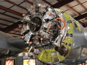 One of the B-29's four Wright R-3350-57 engines receives an overhaul, at a cost of $185K.
