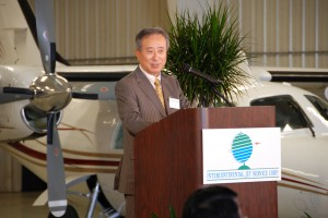 Noel Takayama, general manager of Mitsubishi Heavy Industries America Inc., highlighted the company's continuing commitment to the MU-2 as well as imminent aircraft such as the Mitsubishi Regional Jet.