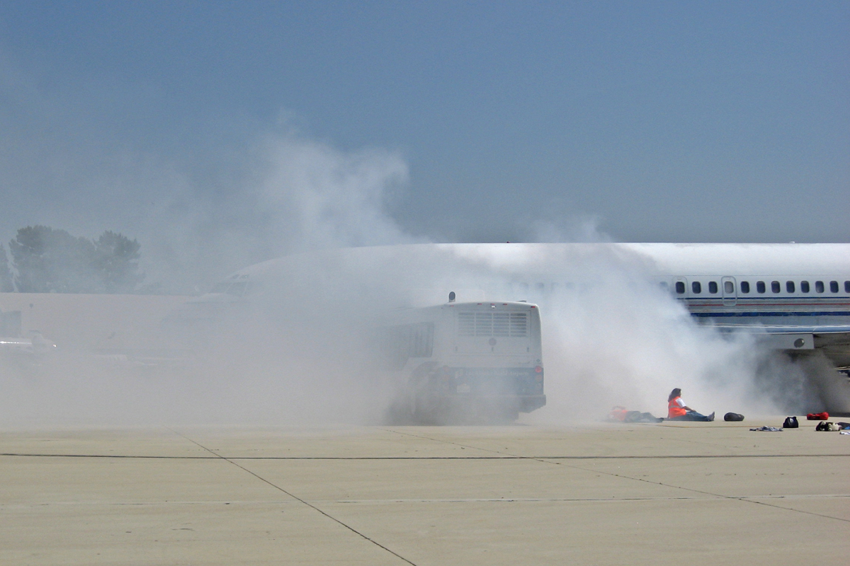 Van Nuys Airport Full-Scale Simulated Aircraft Accident Tests Emergency Response