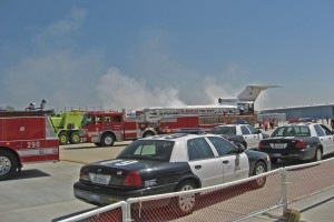 Units from multiple agencies responded during the exercise.