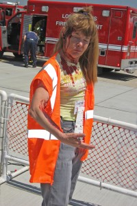 """It felt very realistic!"" said victim volunteer Judy Coates of her experience at the simulated crash scene."