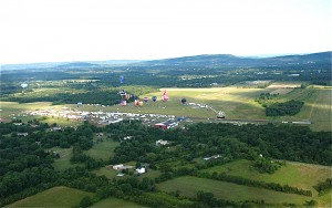 We enjoyed the view of the festival site as we drifted away from the airport over the lush green surrounding countryside.
