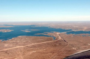 Del Rio's Amistad Reservoir is a welcome sight after so many miles of barren country.