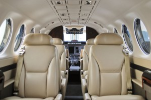 The inside of this King Air demonstrates the exquisite care taken by the pros at Immaculate Flight while cleaning the leather seats, instrument panels and other delicate interior areas.
