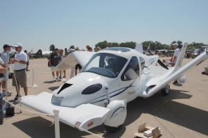 "Terrafugia unveiled its proof-of-concept prototype Transition flying car. CEO Carl Dietrich plans to have the ""roadable aircraft"" flying by the end of this year."