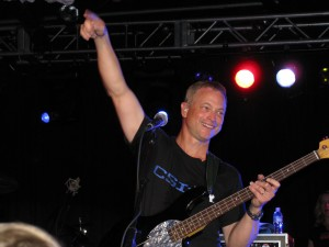 An overflow crowd packed the Theater in the Woods Aug. 1 to hear Gary Sinise and the Lt. Dan Band.