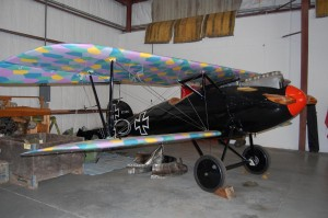 This replica Albatross, the first plane the Red Baron flew, is sporting its original paint scheme. The wing paint scheme was supposed to make it stealthy to anyone looking up.