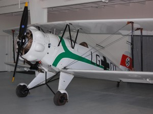 The Bücker Jungmeister trained a large number of Luftwaffe pilots in the early part of WWII. One similar to this came to the U.S. aboard the airship Hindenburg as part of Germany's efforts to show off its advanced aviation capabilities prior to WWII.