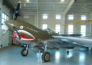 This rare and historic restored Curtiss P-40E had its first test flight in more than 50 years on April 14, 2003, in Auckland, New Zealand. It was an early addition to the museum.