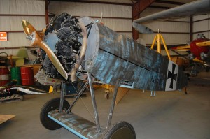 This is a replica of one of two Fokker Dr. 1 Triplane prototypes similar to one used by Germany's ace, Baron Manfred von Richthofen. A Blue Max recipient, Werner Voss, had 48 kills in Yagen's replica before being shot down.