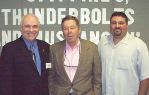 "(L to R) SCF President Dennis ""Scott"" Thomas, Col. David Wilhelm and SCF Vice President of Operations Michael Alonzo."