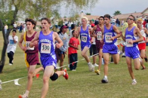 Austin joins teammates competing in the Arizona State Cross Country meet, in Phoenix.
