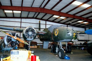 The Fighter Factory's Douglas A-26B Invader was built in 1945, but not much is known about the military history of this plane. Purchased in 1996, the plane is in the final stages of total restoration.