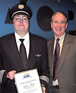 Logan Flood, a pilot who suffered burns on over 85 percent of his body, saw his dream of becoming an airline pilot come true when Republic Airways hired him as a first officer. His touching and inspiring story was told during an AOPA general session.