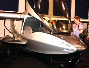 The Icon, a Very Light Sport amphibious aircraft with folding wings, was on display in the convention hall. The aircraft is built by Icon Aircraft of Los Angeles, Calif.