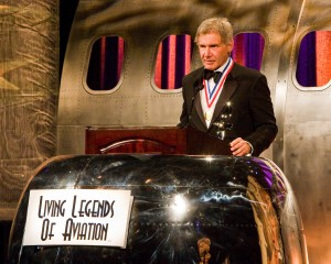 Legend Harrison Ford receives the Legend's Aviation Legacy Award and offers humble and sincere gratitude.