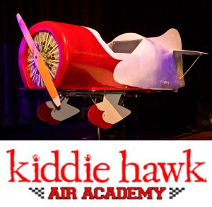 The Kiddie Hawk Gee Bee trainer and video clip showcased and highlighted the flight training program of the Kiddie Hawk Air Academy, the producer of the Legends awards.