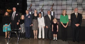 VIP & youth escorts included VIPs Wings chairman Harold Smethills, Colorado Adjutant General Mike Edwards, Gala honorary chair Cathey Finlon, race pilot John Penney & Lockheed Martin vp James Crocker.