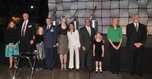 VIP & youth escorts included VIPs Wings chairman Harold Smethills, Colorado Adjutant General Mike Edwards, Gala honorary chair Cathey Finlon, race pilot John Penney & Lockheed Martin vp James Crocker.