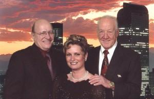 Chuck Halderman, president Denver jetCenter, Brenda Vann, and Gil Utterback.
