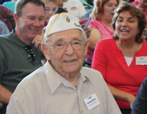 Sam Richiusa reminisced about his Marine Corp experiences at Pearl Harbor.