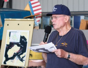 Retired U.S. Army Col. James Hinckley presented a compelling summary of the Pearl Harbor attack.
