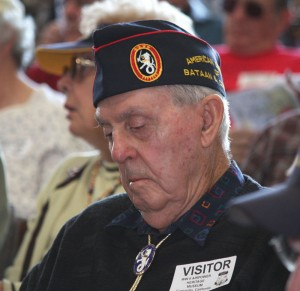 Bataan death march survivor John Real was captured on Luzon and spent three and a half years in a Japanese prison camp.