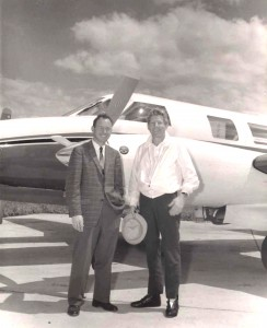 Ed Swearingen, left, has met a lot of interesting people during the course of his career including award-winning actor, comedian and pilot Danny Kaye, at right.